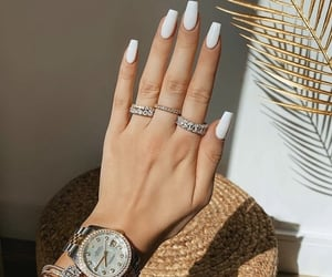 white nails image