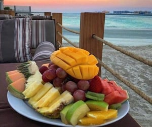 fruit, food, and ocean image