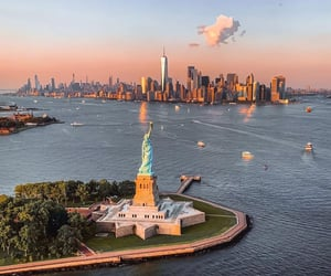 destination, statue of liberty, and new york image