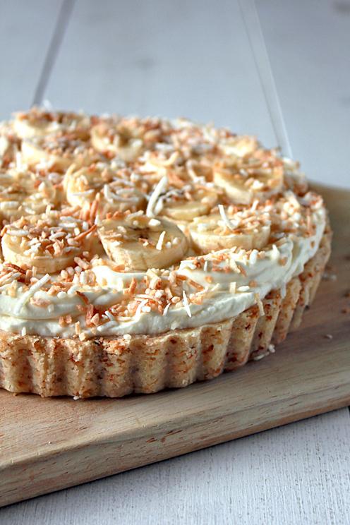 food, pie, and banana image