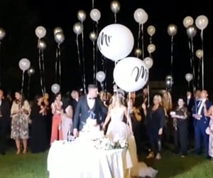 balloon, wedding, and love image