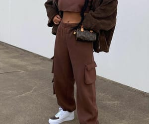 fashion, Louis Vuitton, and brown jacket image