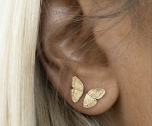 butterfly, fashion, and gold image