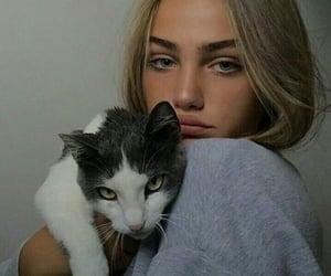 cat, girl, and baddies image