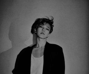 black, white, and kwon soonyoung image