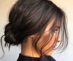 hairstyle, brown, and hair image
