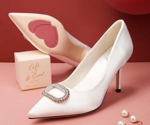 elegant, satin, and pointed toe image