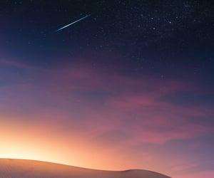 blue, sunset, and desert image