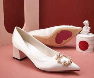 leather, lovely, and wedding shoes image