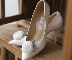 elegant, wedding shoes, and pointed toe image