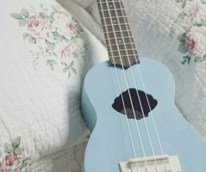 aesthetic, blue, and guitar image