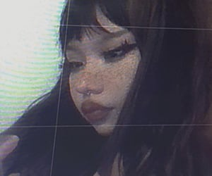 aesthetic, bangs, and freckles image