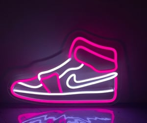 air jordan, neon, and nike image
