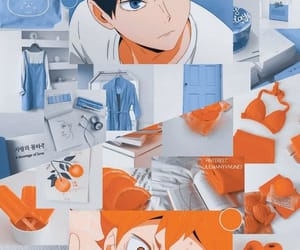 orange, anime, and blue image