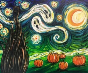 pumpkin, art, and Halloween image