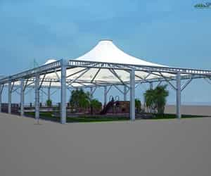 canopy covering in surat, modulartensilestructures, and canopy covering image