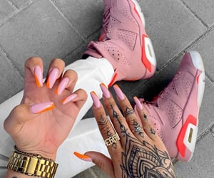 pink, sneakers, and tattoo image