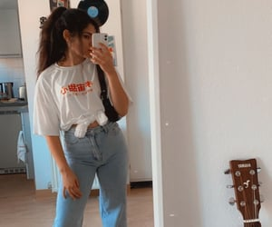 baggy jeans, outfit, and clouds image