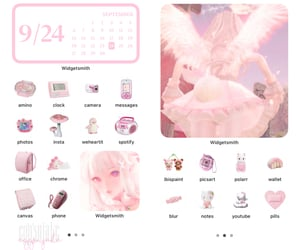 angelic, pink, and softcore image