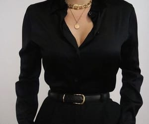 black, outfit, and fashion image