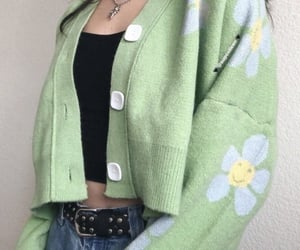 aesthetic, outfit, and flowers image