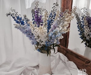 blue, flowers, and bouquet image