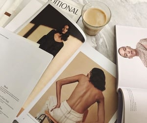 coffee, magazine, and aesthetic image