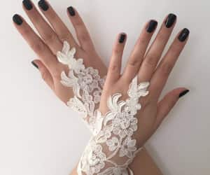 bridal accessories, etsy, and fingerless glove image