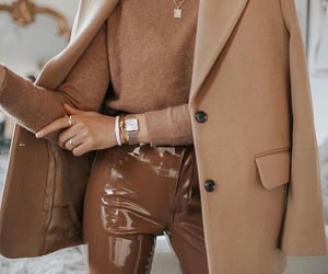 accessories, brown, and beige image