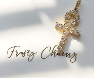 gold jewelry, cross pendant, and jewelry image