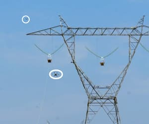 electricity, engineer, and powerline image