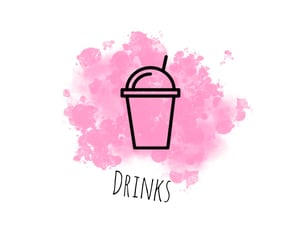 icon, pink, and drinks image
