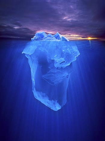 blue, iceberg, and ocean image