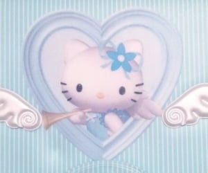 blue and sanrio image