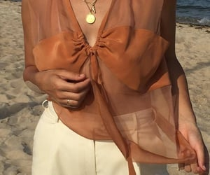 beach, fit, and orange image