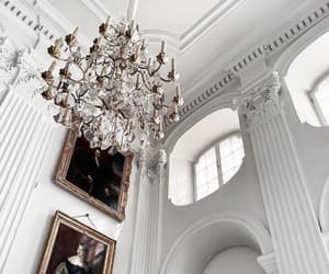 chandelier, home, and aesthetics image