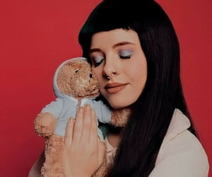 cry baby, wallpaper, and teddy bear image