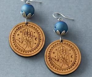 crescent moon, jewelry, and witch image