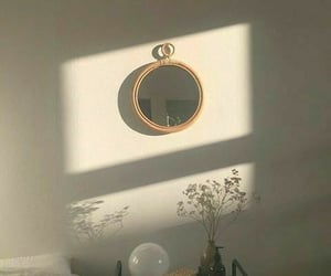 aesthetic, mirror, and brown image