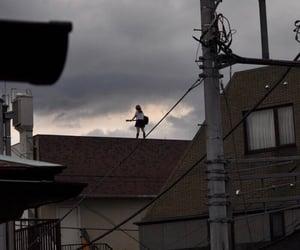 japan, sky, and guitar image