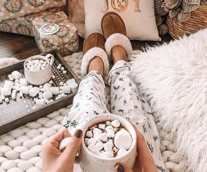 aesthetic, comfy, and hot cocoa image