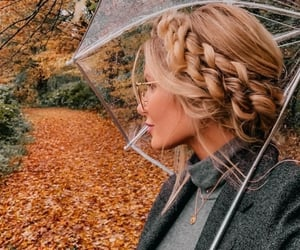 autumn, fall, and braid image