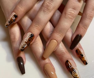 autumn, browns, and nails image