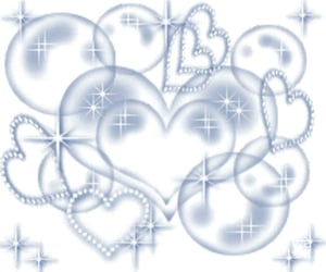 blue, heart, and cyber image