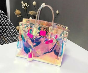 fashion, handbag, and hologram image