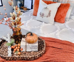 bedroom, decoration, and fall image