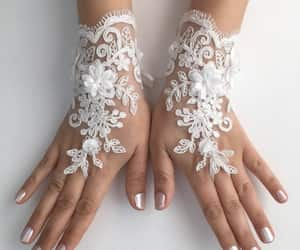 arm warmers, ivory lace gloves, and bride glove image