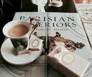 art, tea, and books image