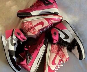 pink, sneakers, and jordans image