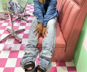 denim, nails, and purses image